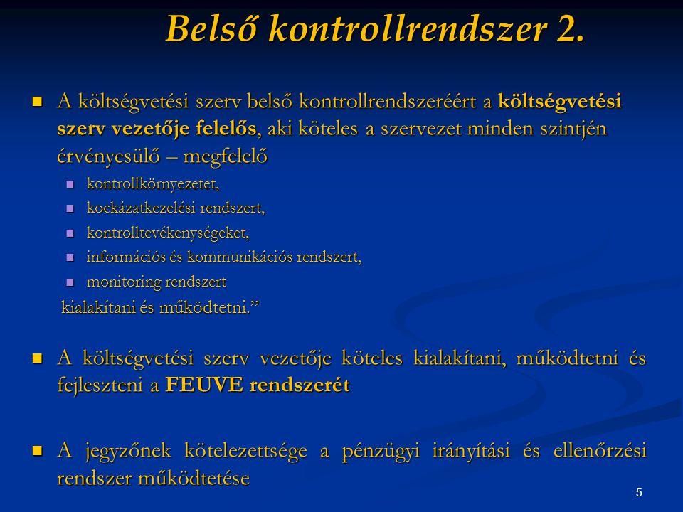 5 Belső kontrollrendszer 2.