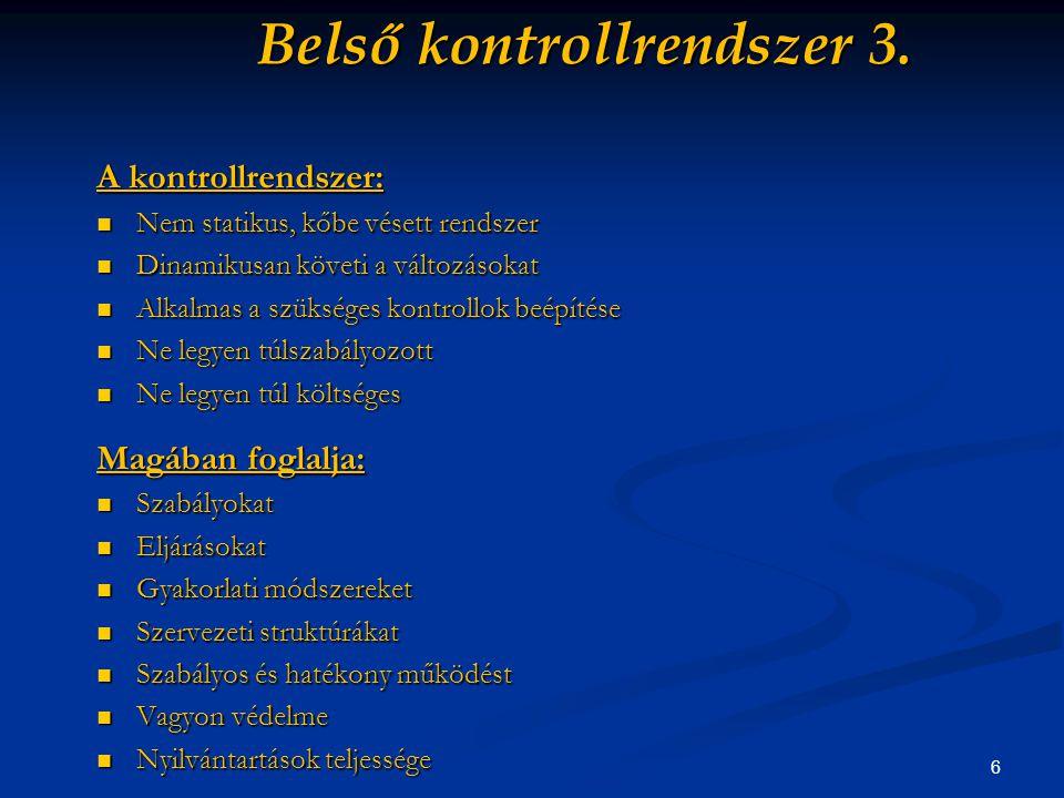 6 Belső kontrollrendszer 3.