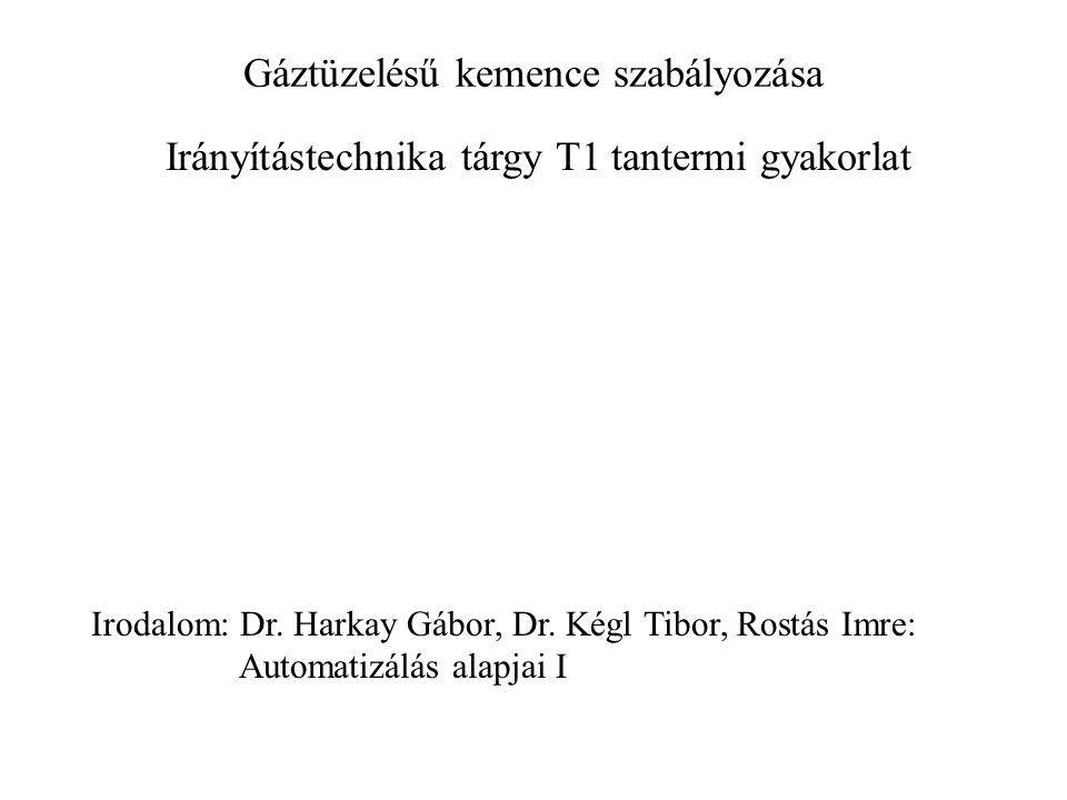 Gáztüzelésű kemence szabályozása Irányítástechnika tárgy T1 tantermi gyakorlat Irodalom: Dr.