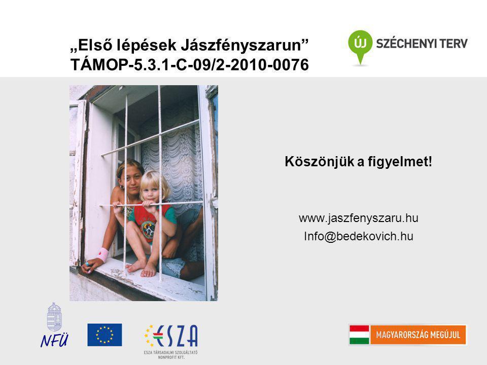 """""""Első lépések Jászfényszarun TÁMOP-5.3.1-C-09/2-2010-0076 Köszönjük a figyelmet."""