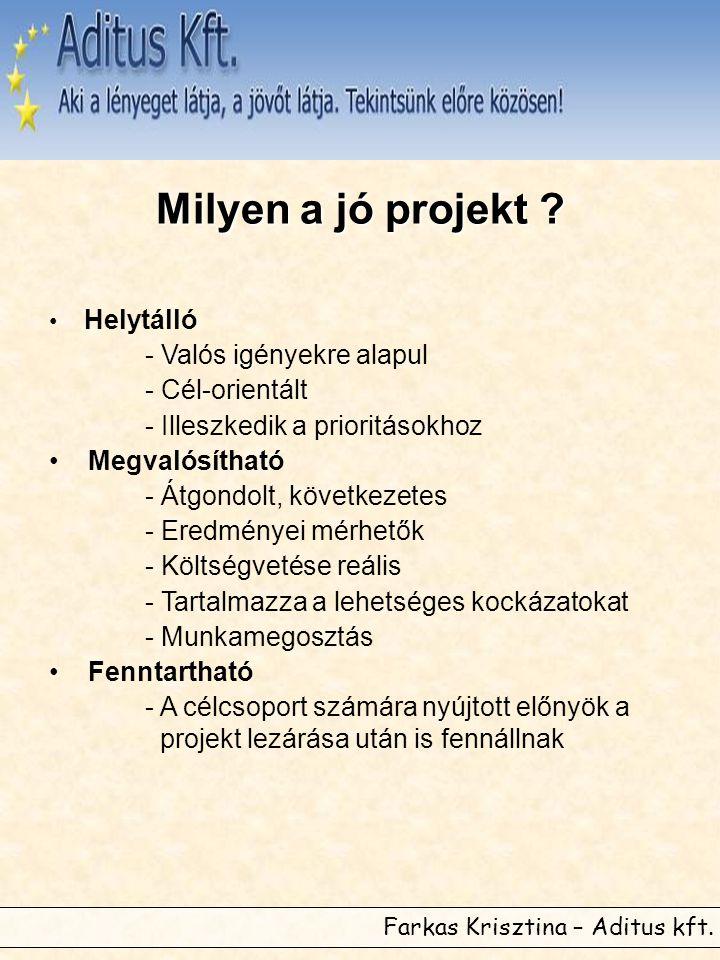Farkas Krisztina – Aditus kft. Milyen a jó projekt .