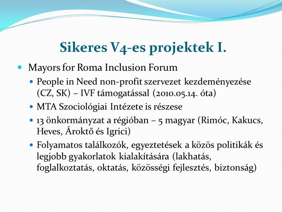 Sikeres V4-es projektek I. Mayors for Roma Inclusion Forum People in Need non-profit szervezet kezdeményezése (CZ, SK) – IVF támogatással (2010.05.14.