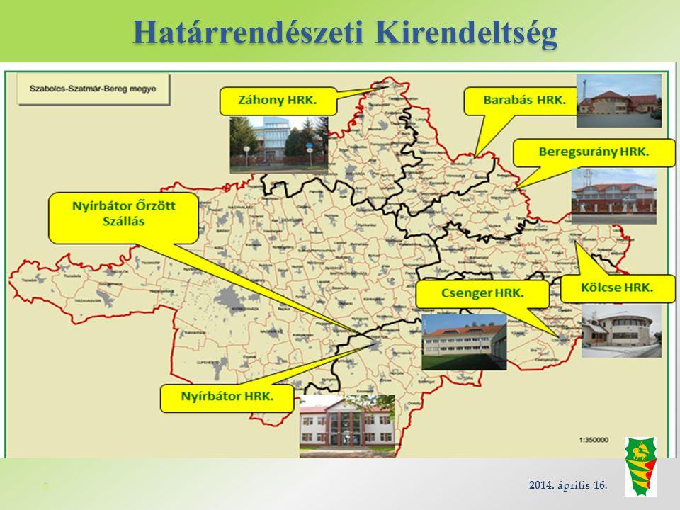 Határrendészeti Kirendeltség 2014. április 16.
