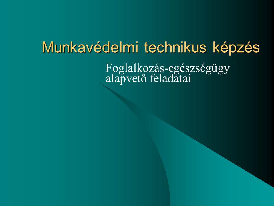 Munkavédelmi technikus képzés Foglalkozás-egészségügy alapvető feladatai