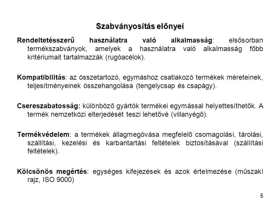 16 Harmonizált szabvány fogalma Európai Bizottság által az 1998.