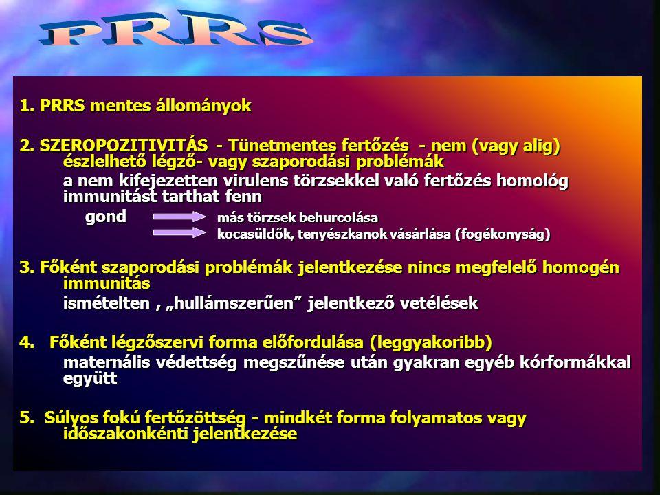1.PRRS mentes állományok 2.