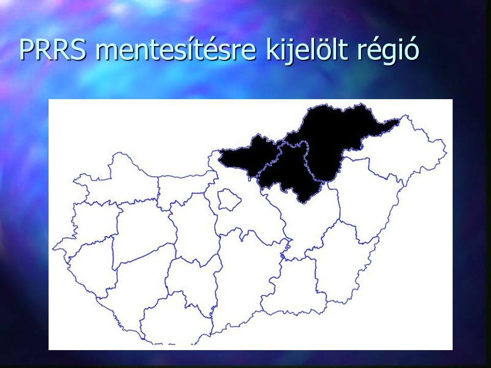 PRRS mentesítésre kijelölt régió