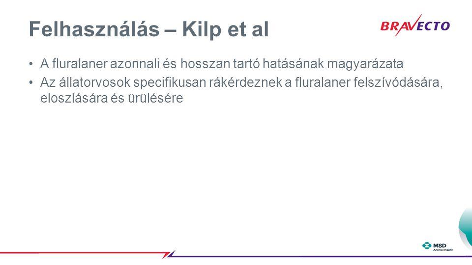 Felhasználás – Kilp et al A fluralaner azonnali és hosszan tartó hatásának magyarázata Az állatorvosok specifikusan rákérdeznek a fluralaner felszívód
