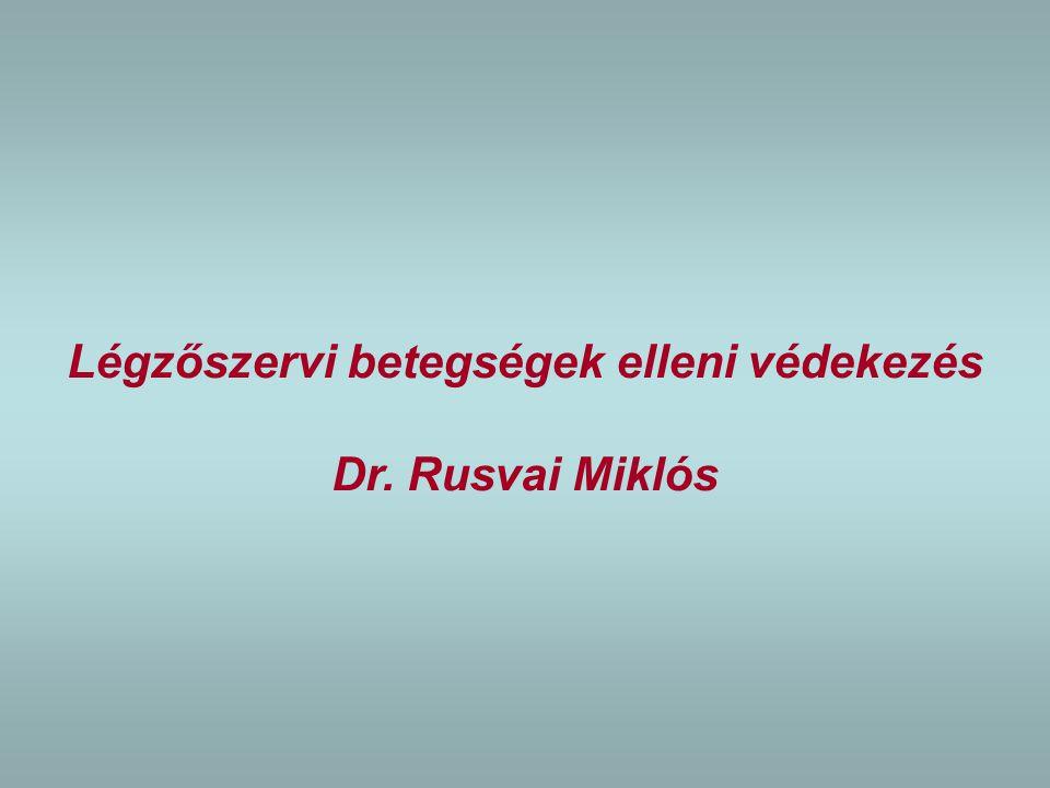 Légzőszervi betegségek elleni védekezés Dr. Rusvai Miklós