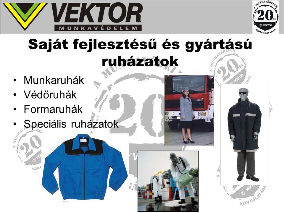 Saját fejlesztésű és gyártású ruházatok Munkaruhák Védőruhák Formaruhák Speciális ruházatok