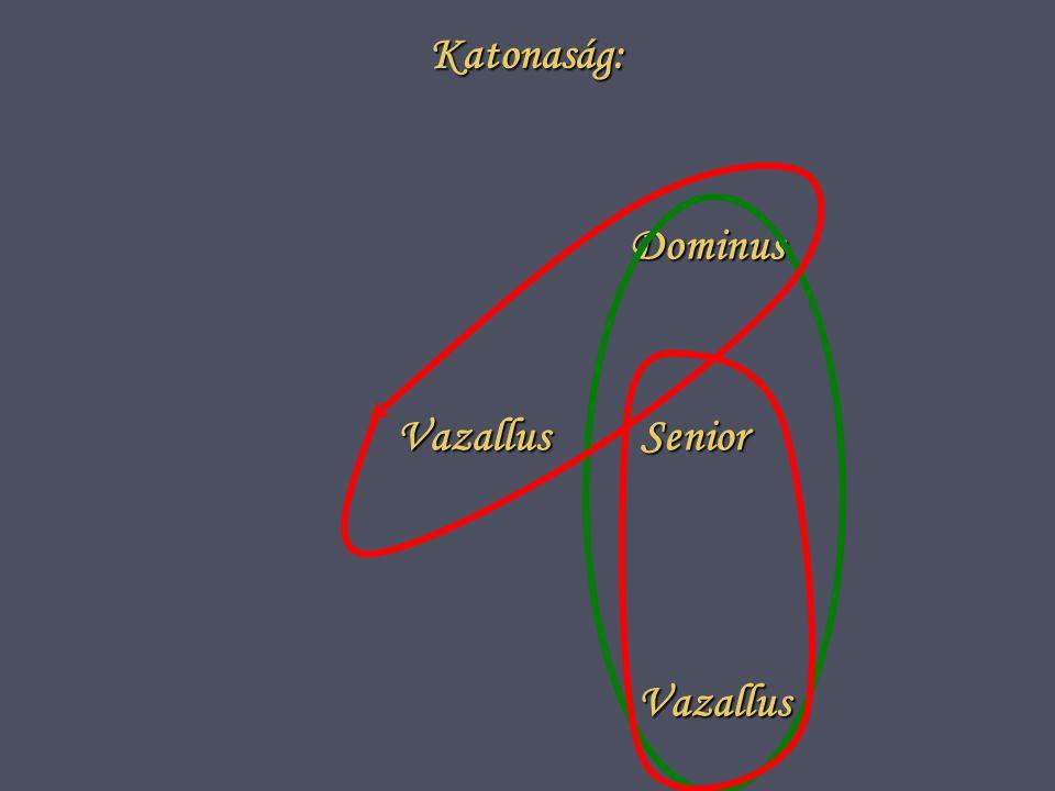 Katonaság: Dominus Senior Vazallus Vazallus