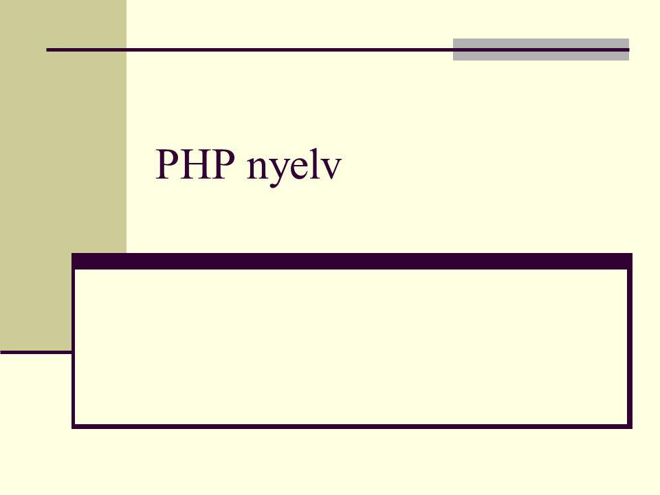 PHP nyelv