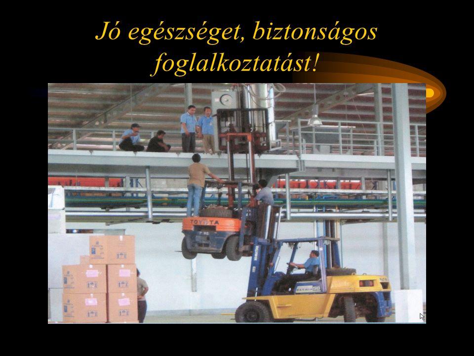 Jó egészséget, biztonságos foglalkoztatást!