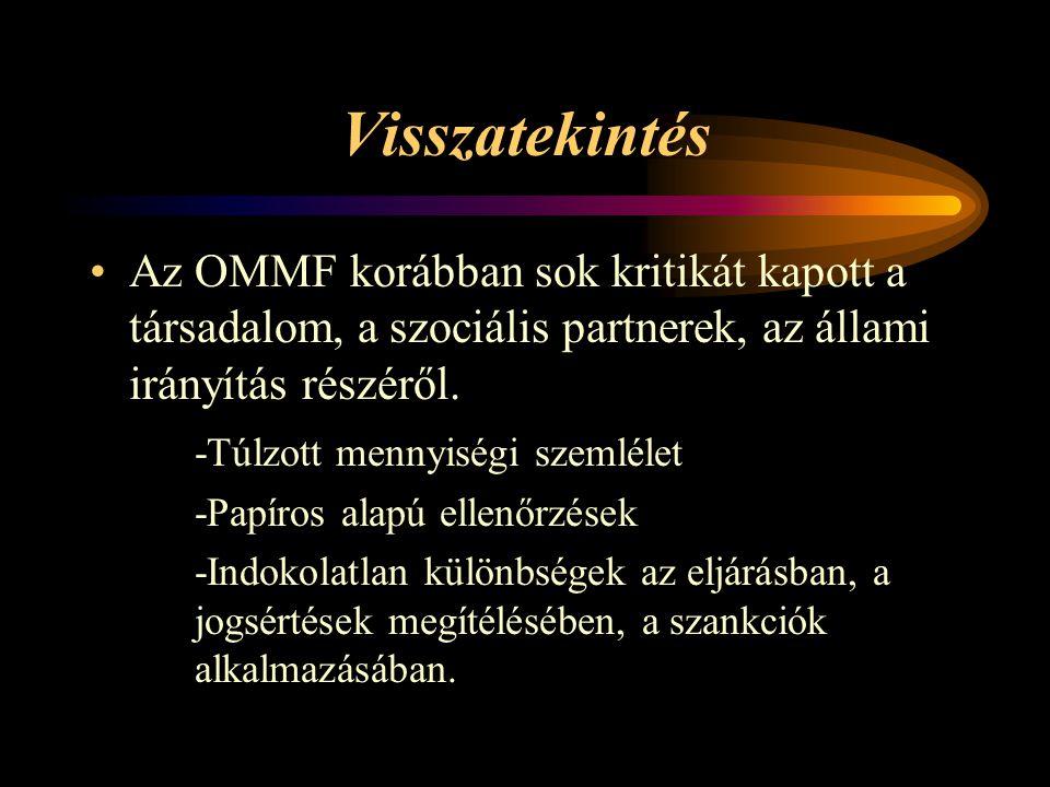 Visszatekintés Az OMMF korábban sok kritikát kapott a társadalom, a szociális partnerek, az állami irányítás részéről.