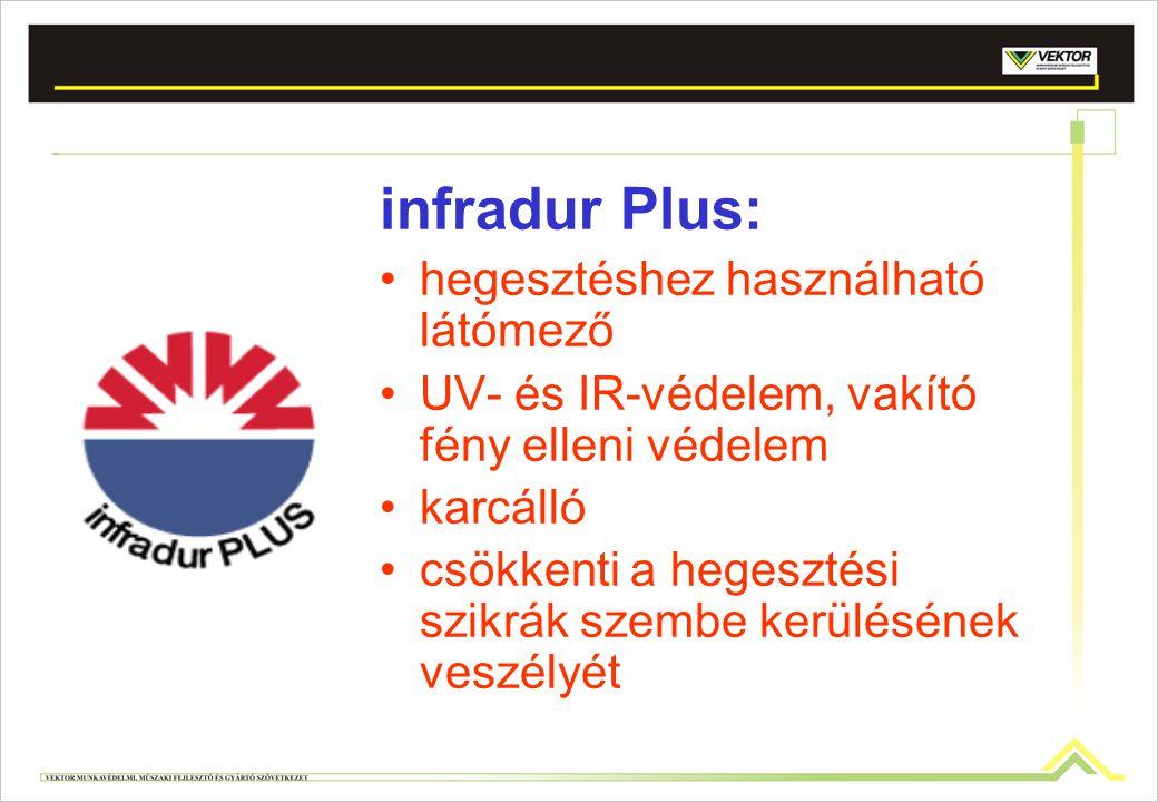 infradur Plus: hegesztéshez használható látómező UV- és IR-védelem, vakító fény elleni védelem karcálló csökkenti a hegesztési szikrák szembe kerülésé