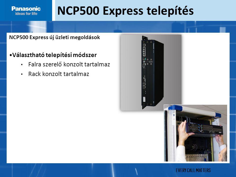 EVERY CALL MATTERS NCP500 Express telepítés NCP500 Express új üzleti megoldások Választható telepítési módszer Falra szerelő konzolt tartalmaz Rack konzolt tartalmaz