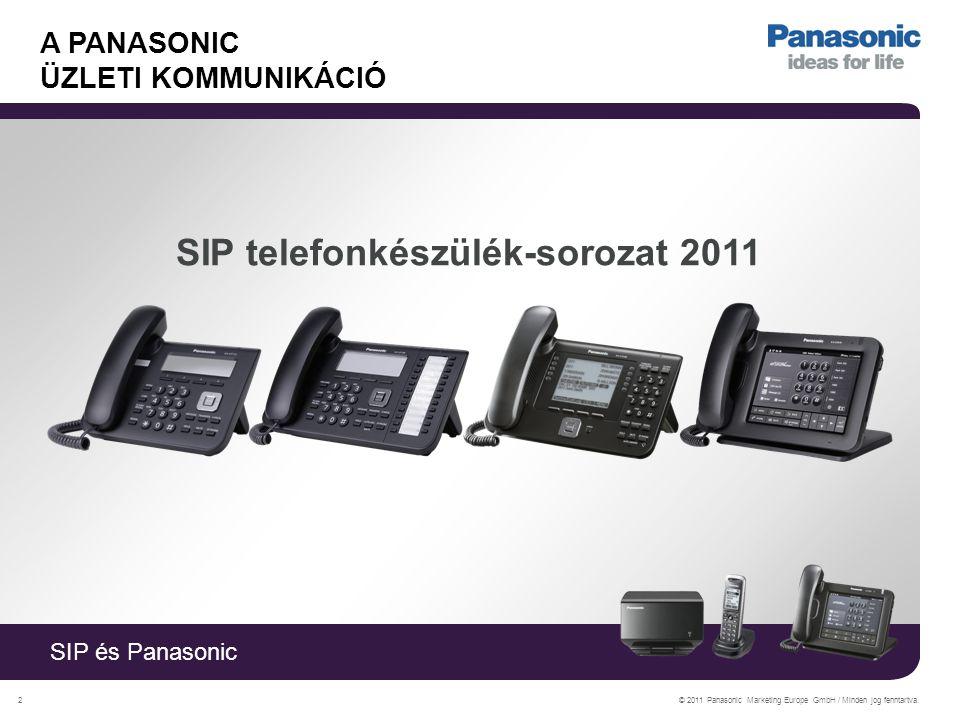 SIP és Panasonic © 2011 Panasonic Marketing Europe GmbH / Minden jog fenntartva.