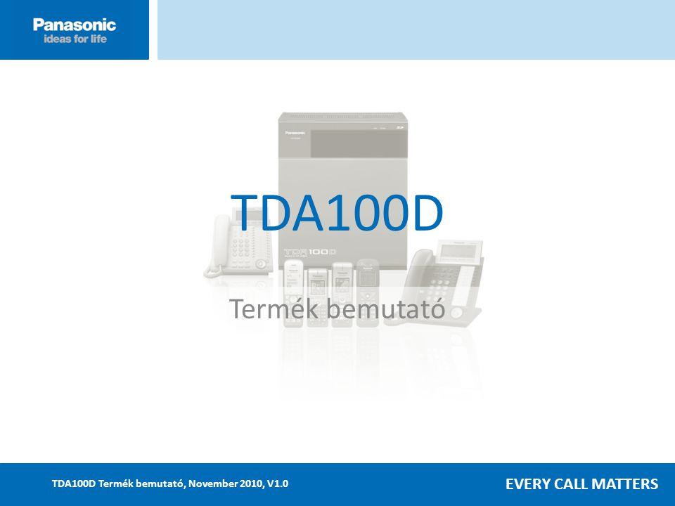 EVERY CALL MATTERS TDA100D Termék bemutató, November 2010, V1.0 TDA100D Termék bemutató