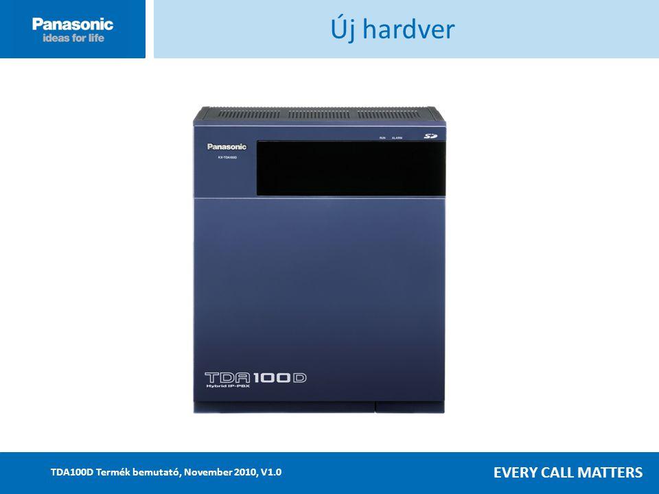 EVERY CALL MATTERS TDA100D Termék bemutató, November 2010, V1.0 Új hardver