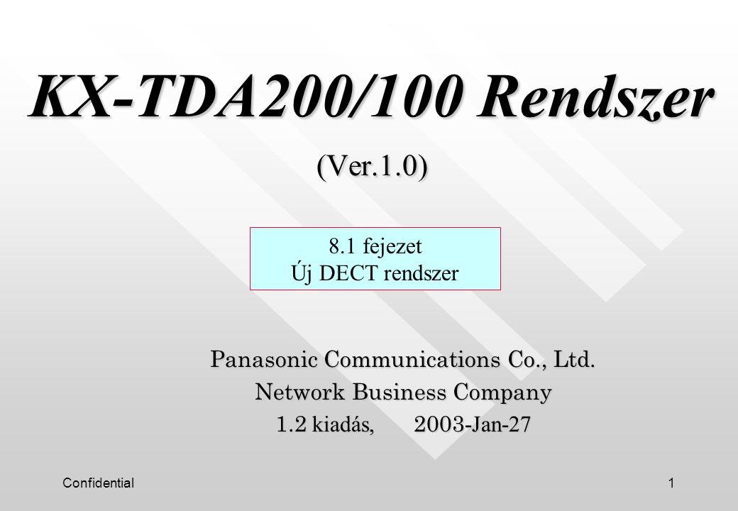 Confidential12 Köszönjük a figyelmet ! 8.1 fejezet Új DECT rendszer
