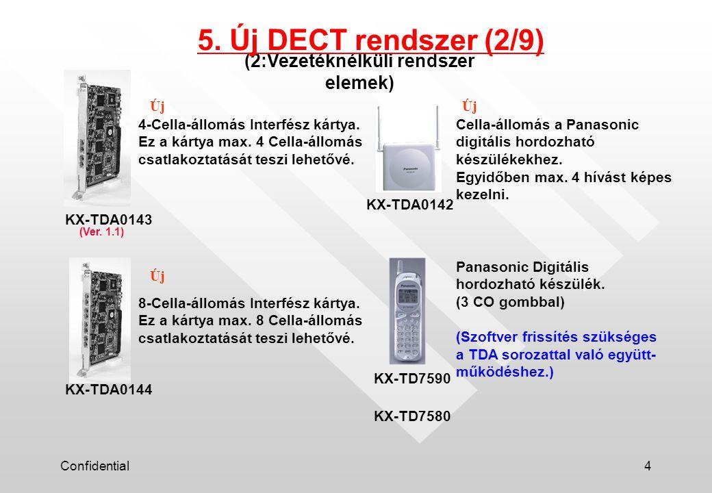 Confidential5 (3:Rendszer kapacitás) 5. Új DECT rendszer (3/9)
