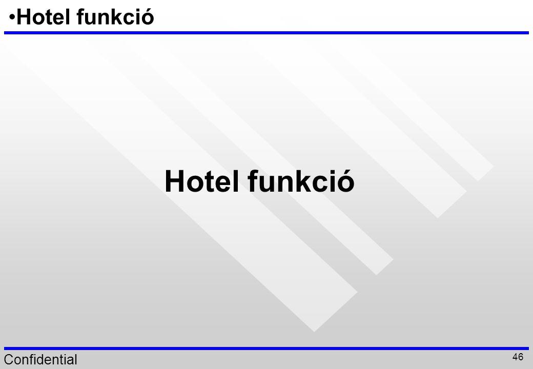 Confidential 46 Hotel funkció