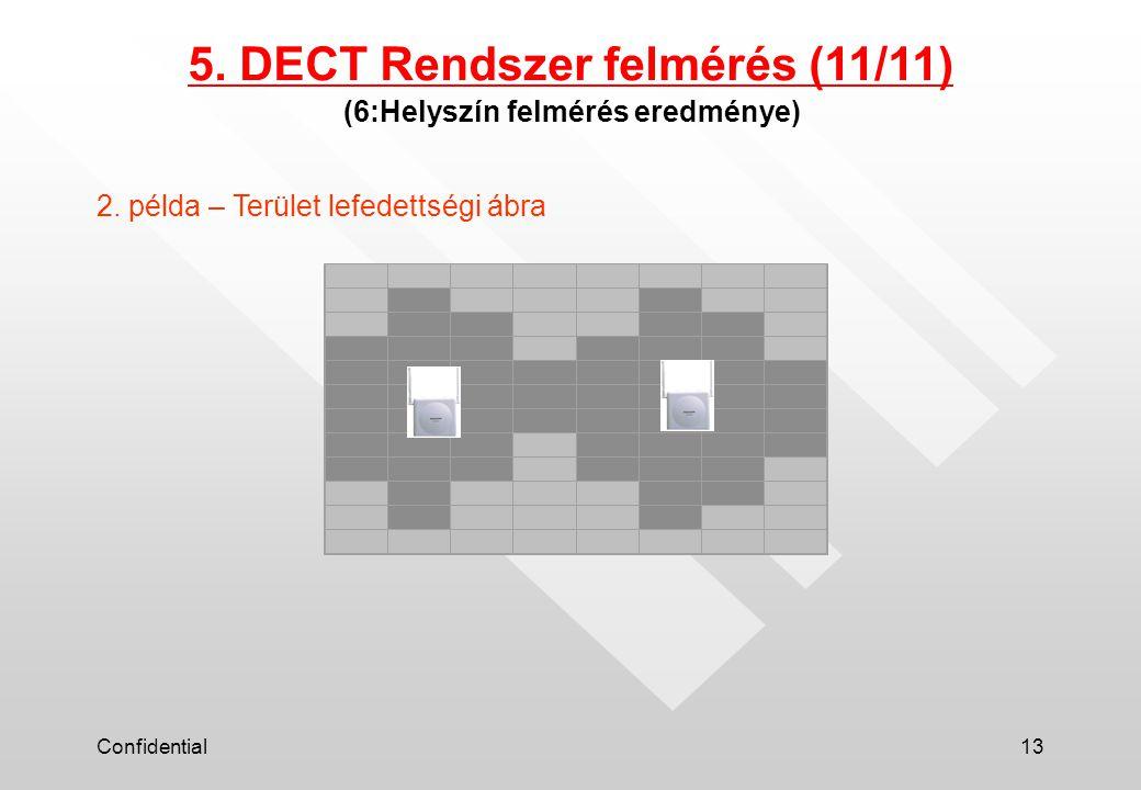 Confidential13 (6:Helyszín felmérés eredménye) 5. DECT Rendszer felmérés (11/11) 2.
