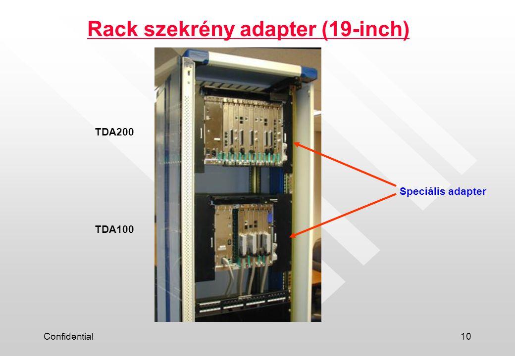 Confidential10 Rack szekrény adapter (19-inch) Speciális adapter TDA200 TDA100