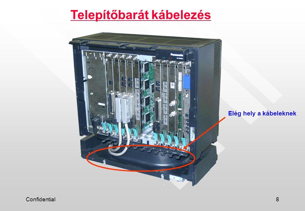 Confidential8 Telepítőbarát kábelezés Elég hely a kábeleknek