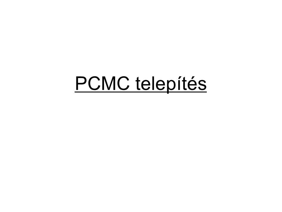 PCMC telepítés