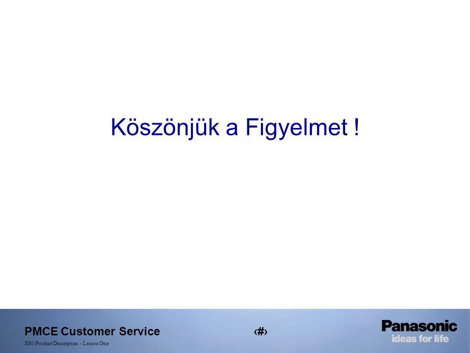 PMCE Customer Service21 X60 Product Description - Lesson One Köszönjük a Figyelmet !
