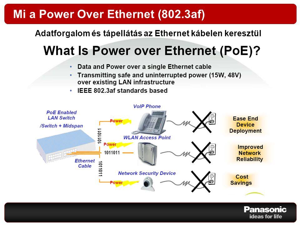 Mi a Power Over Ethernet (802.3af) Adatforgalom és tápellátás az Ethernet kábelen keresztül