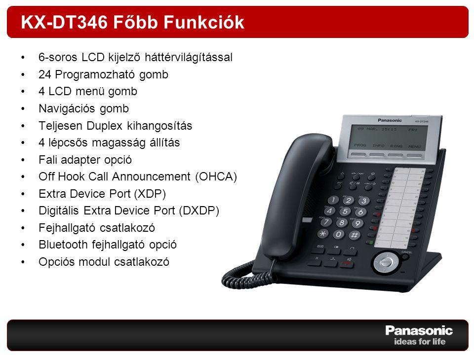 DT300 Opciós Modulok A DT300 telefonkészülékek funkcióinak bővítéséhez a következő opciós modulok állnak rendelkezésre: KX-DT301KX-NT303KX-DT390