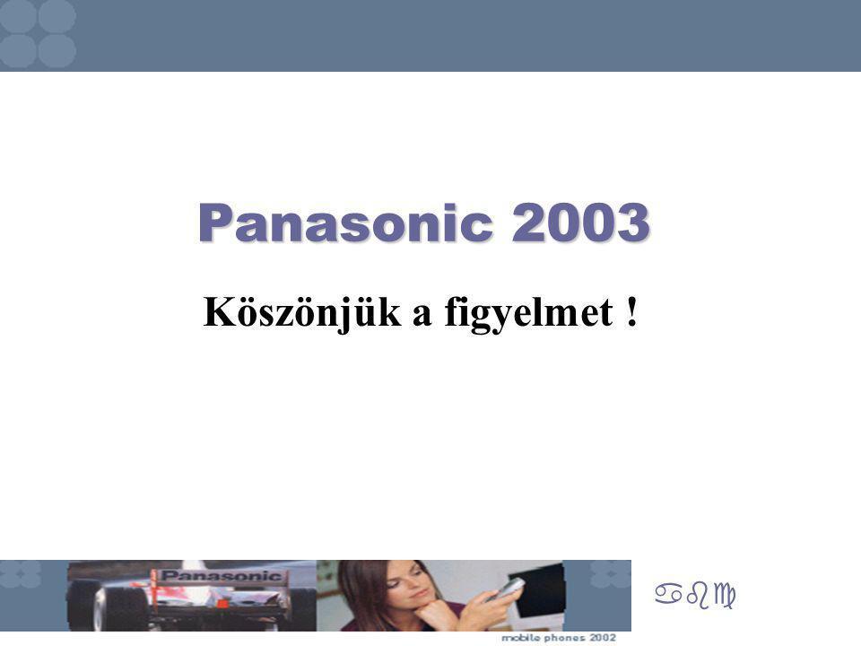 Panasonic 2003 abc Köszönjük a figyelmet !