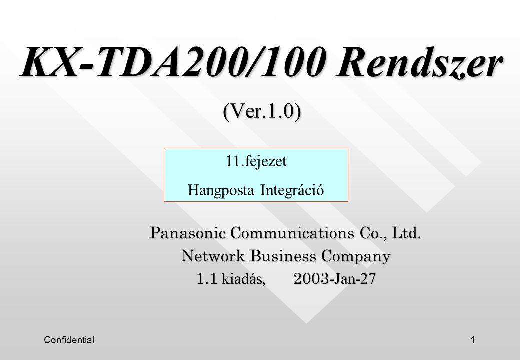 Confidential2 n Integráció nélkül n DTMF (sávon belüli) integráció n DPT integráció n APT integráció (Ez nem alkalmazható !) Hangposta (VPS) Integráció típusok