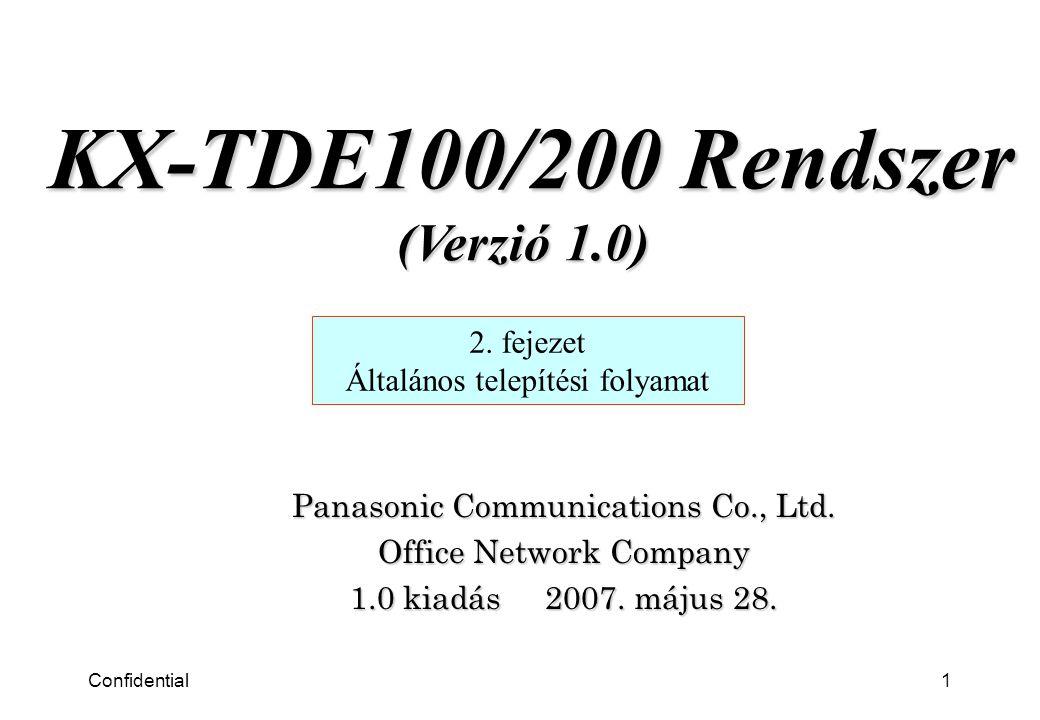 Confidential2 2.fejezet Általános telepítési folyamat 1.