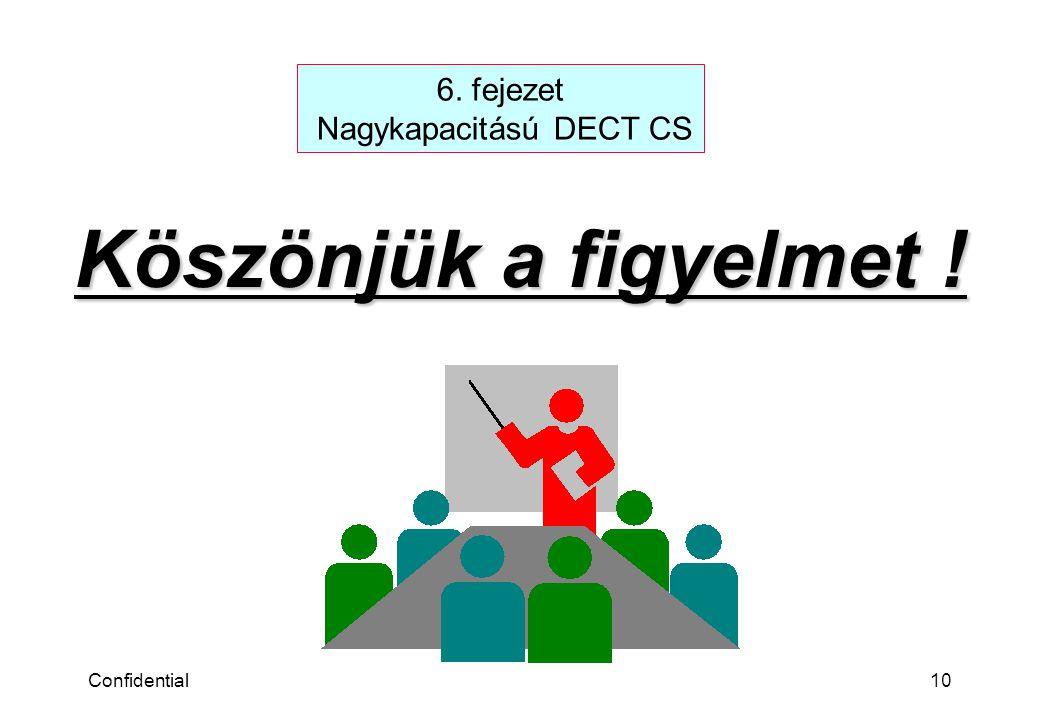 Confidential10 Köszönjük a figyelmet ! 6. fejezet Nagykapacitású DECT CS
