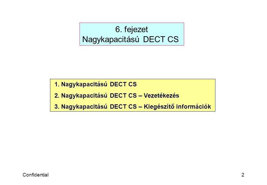 Confidential2 6.fejezet Nagykapacitású DECT CS 1.