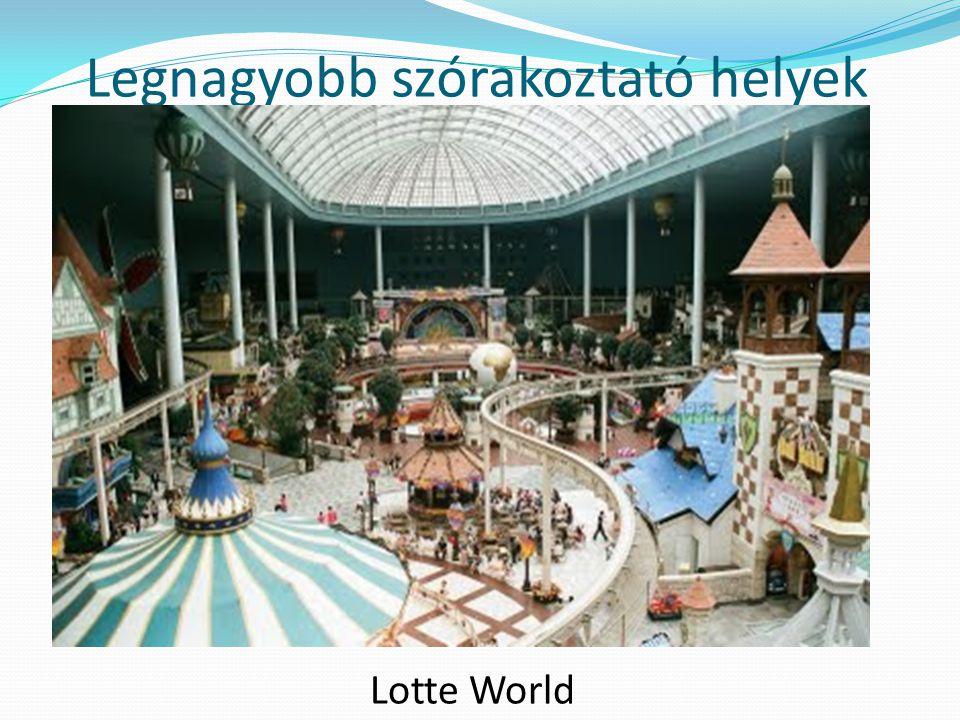 Legnagyobb szórakoztató helyek Lotte World
