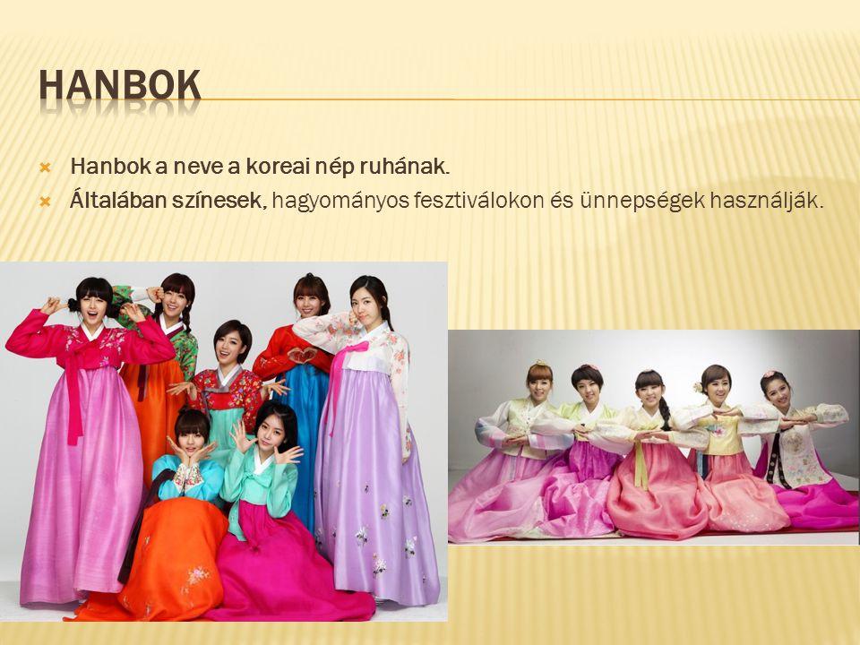  Hanbok a neve a koreai nép ruhának.