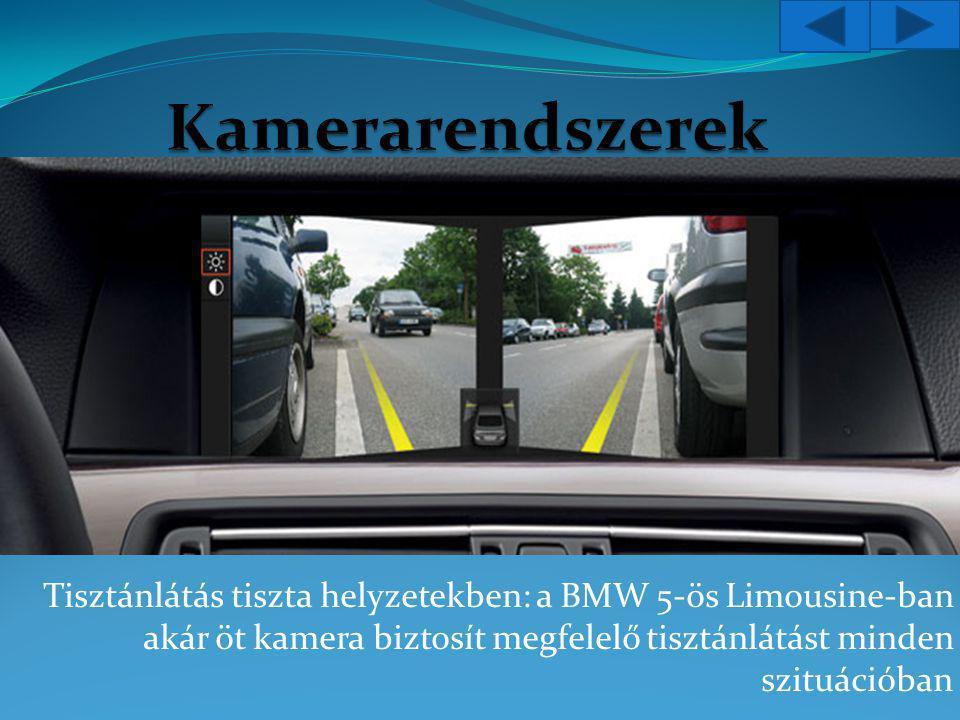 Tisztánlátás tiszta helyzetekben: a BMW 5-ös Limousine-ban akár öt kamera biztosít megfelelő tisztánlátást minden szituációban