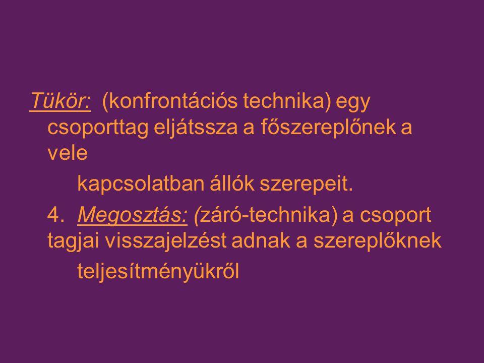 III.Csoportszintű beavatkozások A. A kommunikációs és kölcsönhatás séma megváltoztatása: 1.