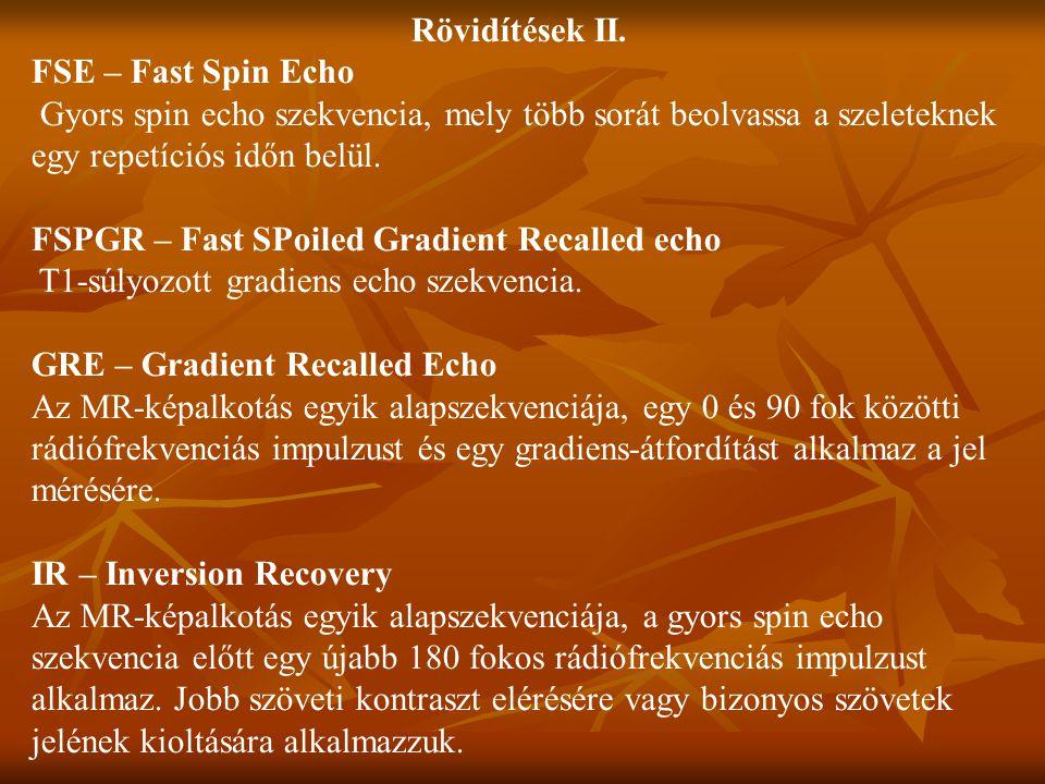 Rövidítések II.