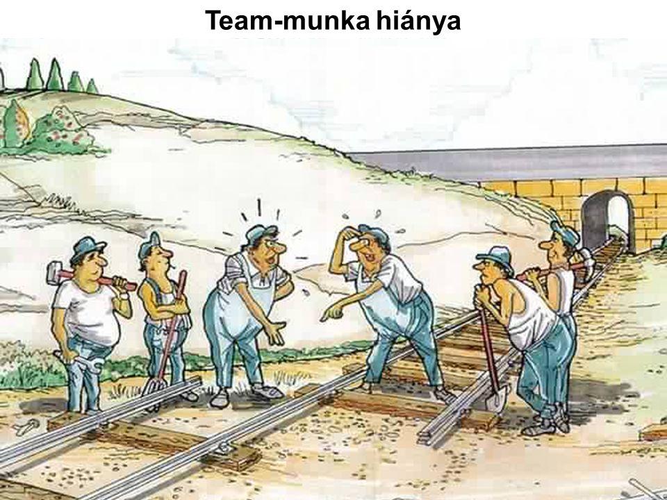 Team-munka hiánya