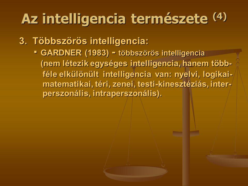 Az intelligencia természete (4) 3.