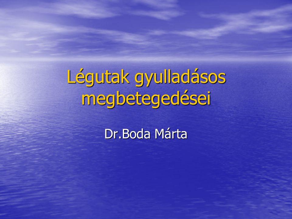 Légutak gyulladásos megbetegedései Dr.Boda Márta