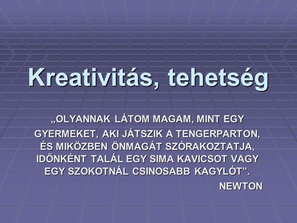 """Kreativitás, tehetség """"OLYANNAK LÁTOM MAGAM, MINT EGY GYERMEKET, AKI JÁTSZIK A TENGERPARTON, ÉS MIKÖZBEN ÖNMAGÁT SZÓRAKOZTATJA, IDŐNKÉNT TALÁL EGY SIM"""