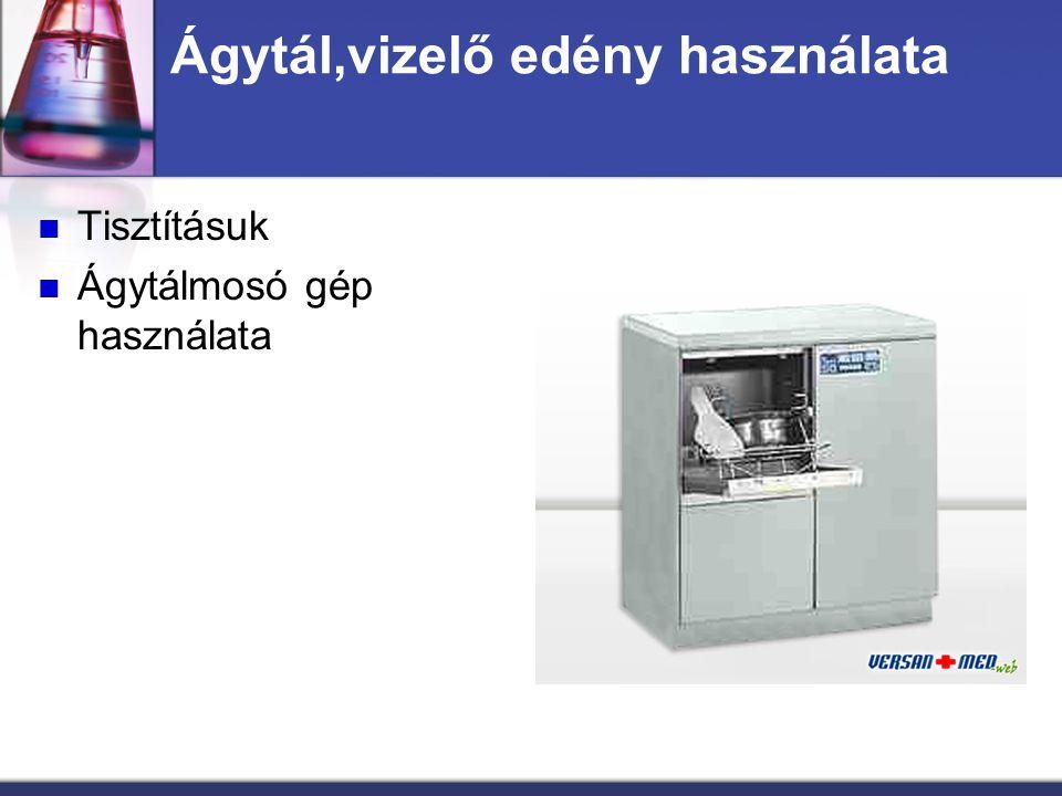 Ágytál,vizelő edény használata Tisztításuk Ágytálmosó gép használata