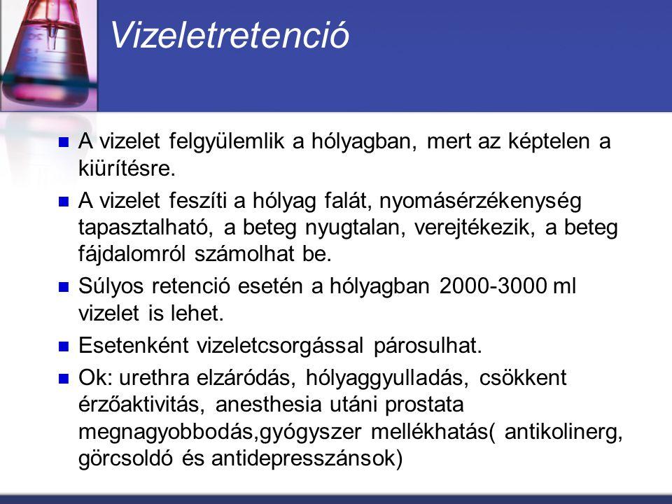 Alsó húgyúti fertőzések Gyakori nozokomiális fertőzés Bacteriuria Ok: ált.