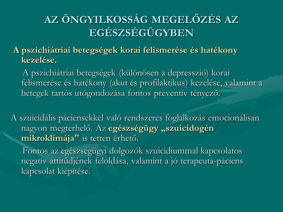 A pszichiátriai betegségek korai felismerése és hatékony kezelése. A pszichiátriai betegségek korai felismerése és hatékony kezelése. A pszichiátriai